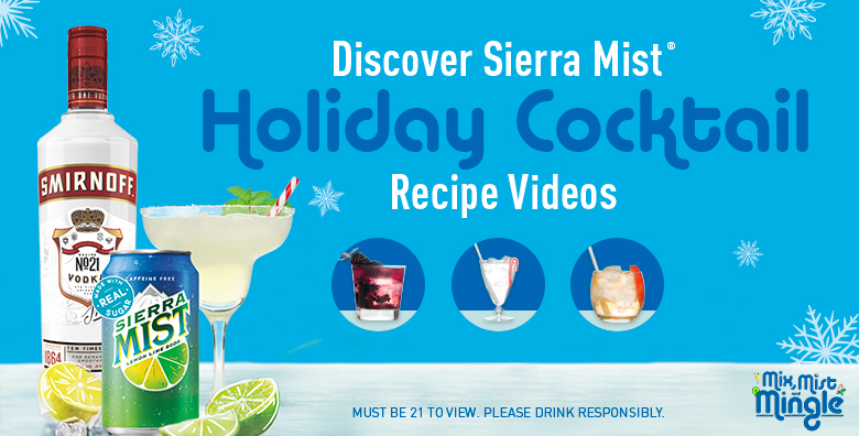 Discover Sierra Mist Holiday Cocktail Recipe Videos