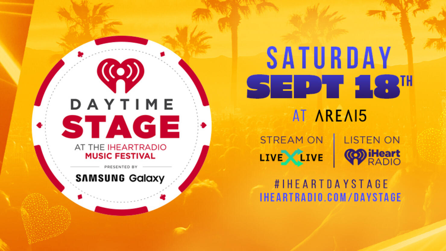 Daytime Stage at the iHeartRadio Music Festival at AREA15