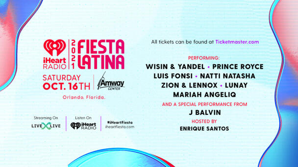 Find Out Who's Taking The Stage At Our 2021 iHeartRadio Fiesta Latina!