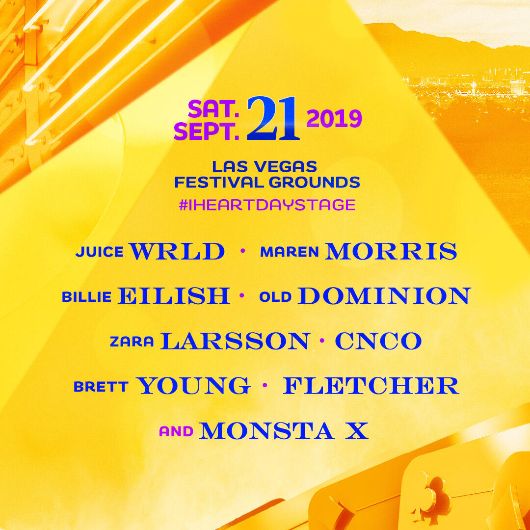 Lineup for the Daytime Stage at the 2019 iHeartRadio Music Festival