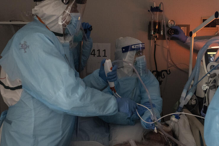 COVID-19 Intensive Care Unit Within A Houston Hospital Cares For Patients As Cases Continue To Rise