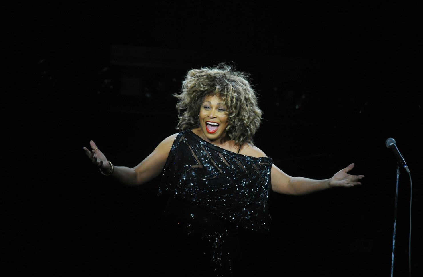 US singer Tina Turner performs on stage