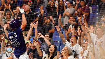 image for VIDEO: Rays Brett Phillips Jumps Into TB Crowd After WALK OFF HR In 10th!