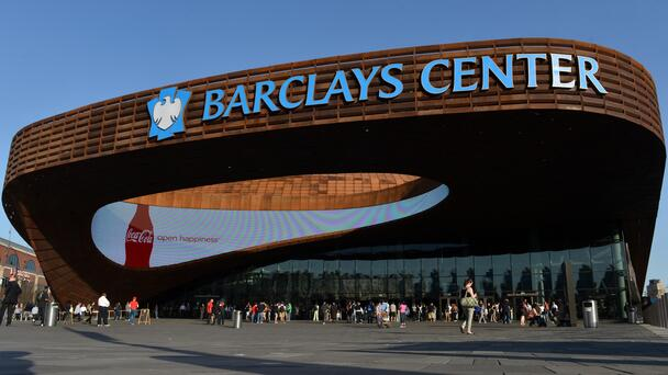 Anti-Vaccine Protestors Storm Barclays Center In Support Of Kyrie Irving