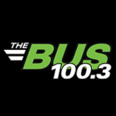 100.3 THE BUS logo