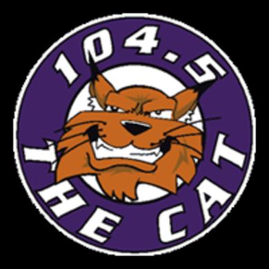 104.5 The Cat logo
