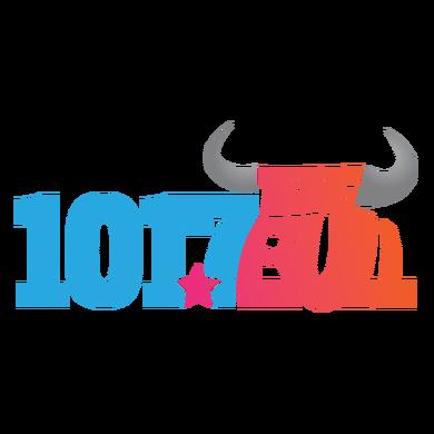 101.7 The Bull logo