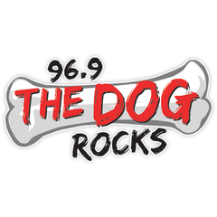 96.9 The Dog Rocks logo