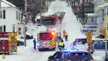 None - Snow Plow Overturned In Leominster