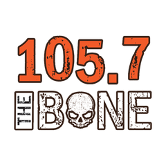 105.7 The Bone logo