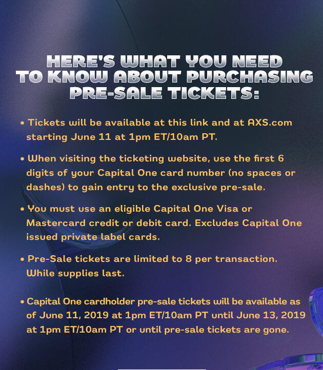 Here's What You Need To Know About Purchasing Pre-Sale Tickets