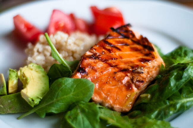 BBQ teriyaki salmon (Credit:Nigel O'Neil/Royalty-Free)