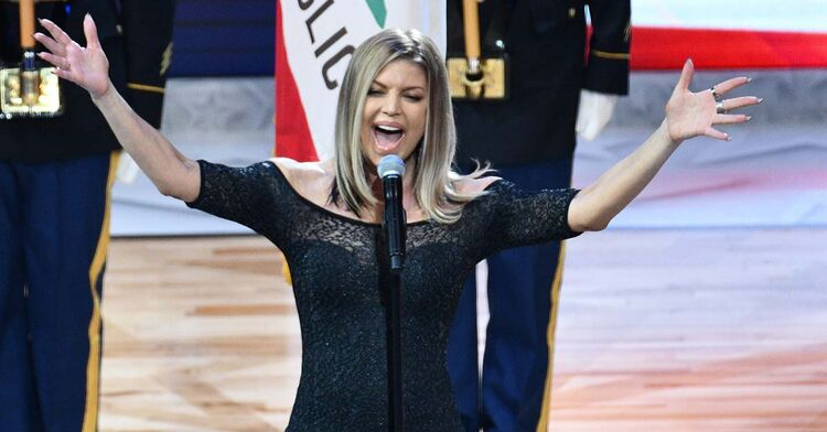 fergie national anthem nba all star