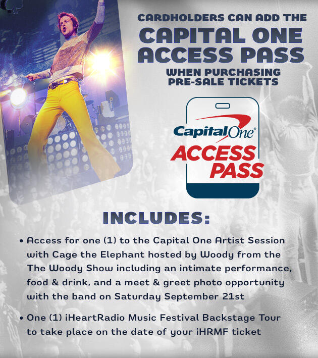 Cardholders can add the Capital One Access Pass when purchasing pre-sale tickets