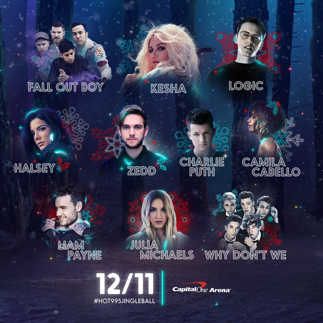 Lineup for HOT 99.5's Jingle Ball Presented by Capital One