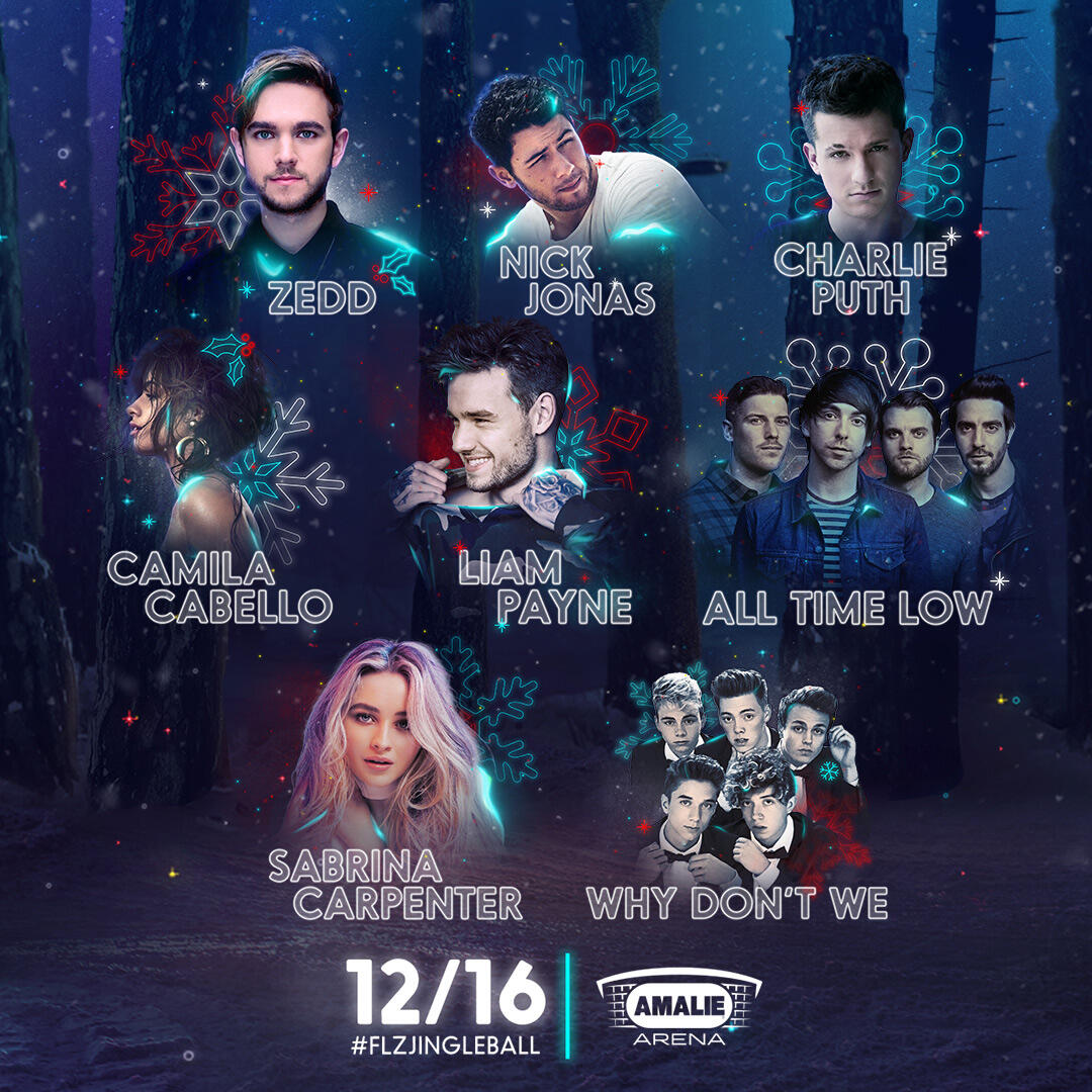Lineup for 93.3 FLZ's Jingle Ball Presented by Capital One