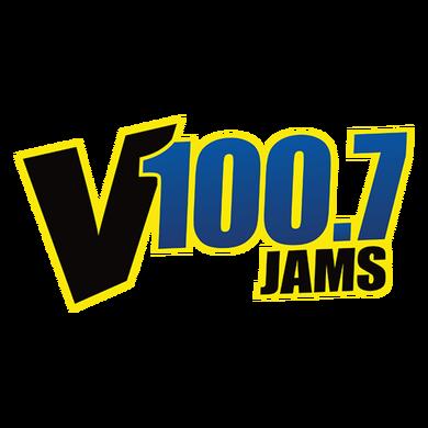 V100.7 logo