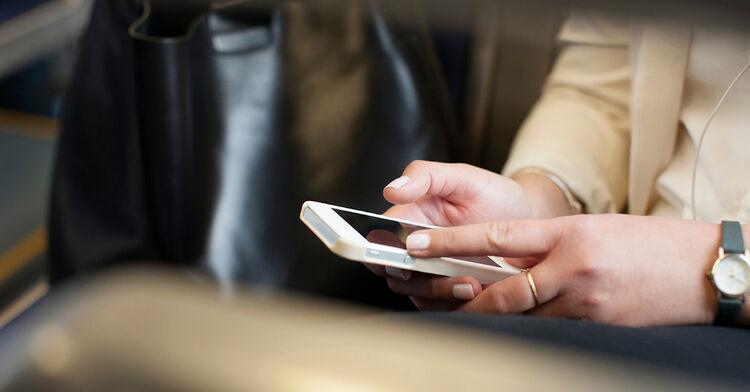 phone on train generic