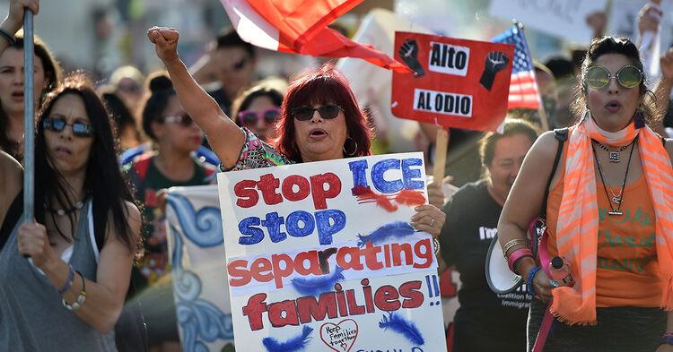 immigration border protest separation migrant children