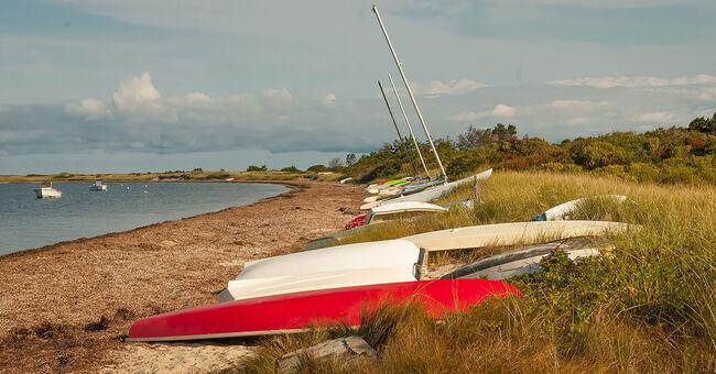 nantucket island madaket harbor beach generic stock