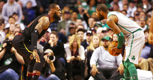 kyrie irving lebron james boston celtics basketball nba