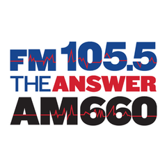 FM105.5 and AM660 THE ANSWER logo