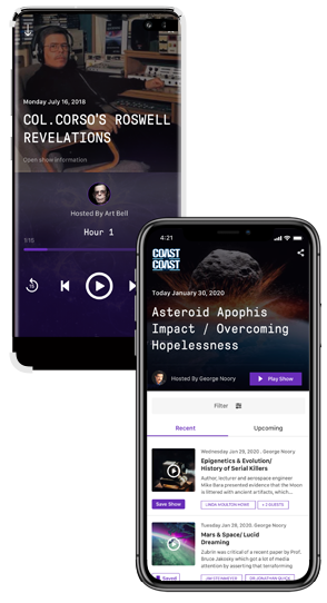 Coast to Coast AM iOS and Android App