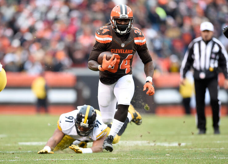 cheaper 88103 15b7e Cleveland Browns' Isaiah Crowell Apologizes To Police Chief ...