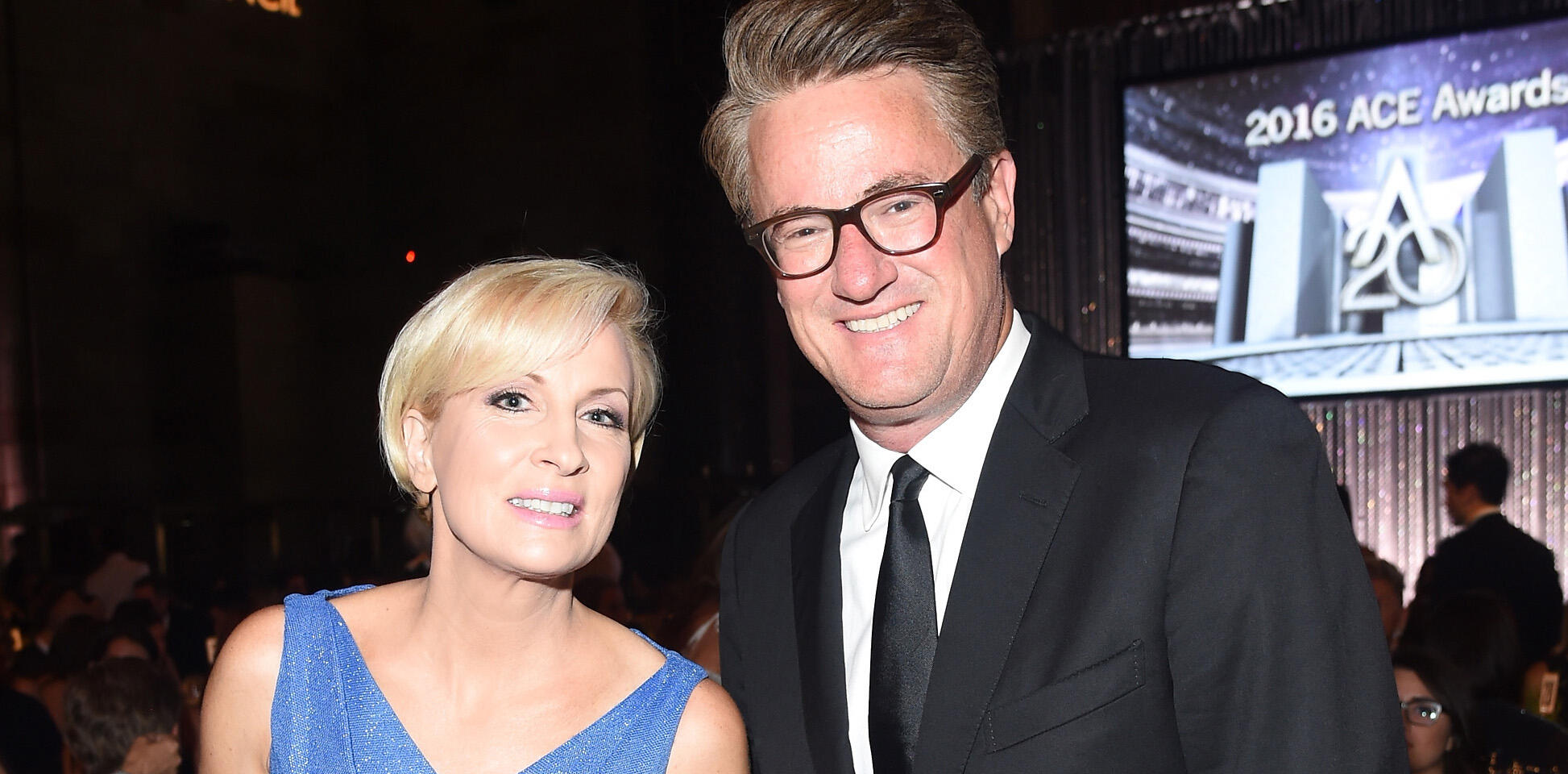 NEW YORK, NY - AUGUST 02:  Televsion hosts Mika Brzezinski (L) and Joe Scarborough attend the Accessories Council 20th Anniversary celebration of the ACE awards at Cipriani 42nd Street on August 2, 2016 in New York City.  (Photo by Michael Loccisano/Getty Images for Accessories Council)