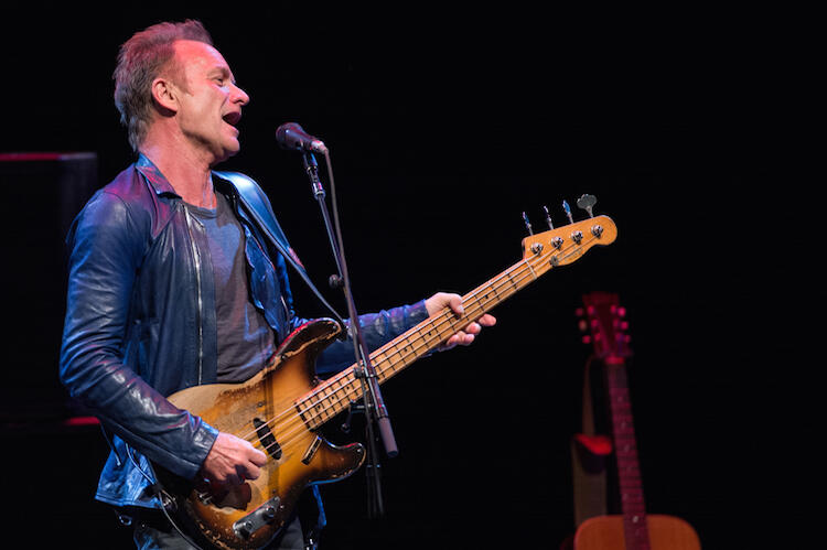 LOS ANGELES, CA - AUGUST 31:  Musician Sting performs onstage at a private KCSN VIP Live session at VPAC on August 31, 2016 in Los Angeles, California.  (Photo by Emma McIntyre/Getty Images)