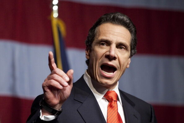 Democratic Gubernatorial Candidate Andrew Cuomo Gathers With Supporters On Election Night