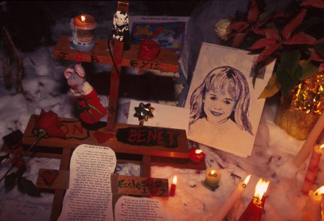 Candles Lit at Jonbenet Ramsey Murder Site