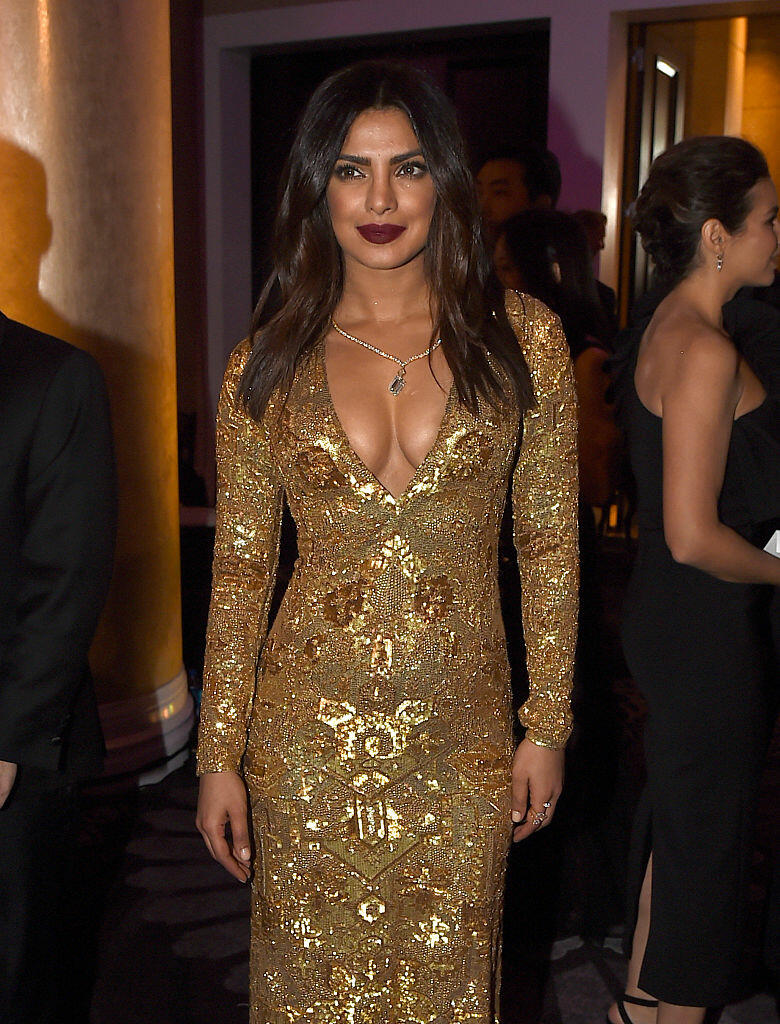 BEVERLY HILLS, CA - JANUARY 08:  Actress Priyanka Chopra attends the 74th Annual Golden Globe Awards at The Beverly Hilton Hotel on January 8, 2017 in Beverly Hills, California.  (Photo by Kevin Winter/Getty Images)