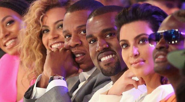 Beyonce Knowles, Jay Z, Kanye West, Kim Kardashian West