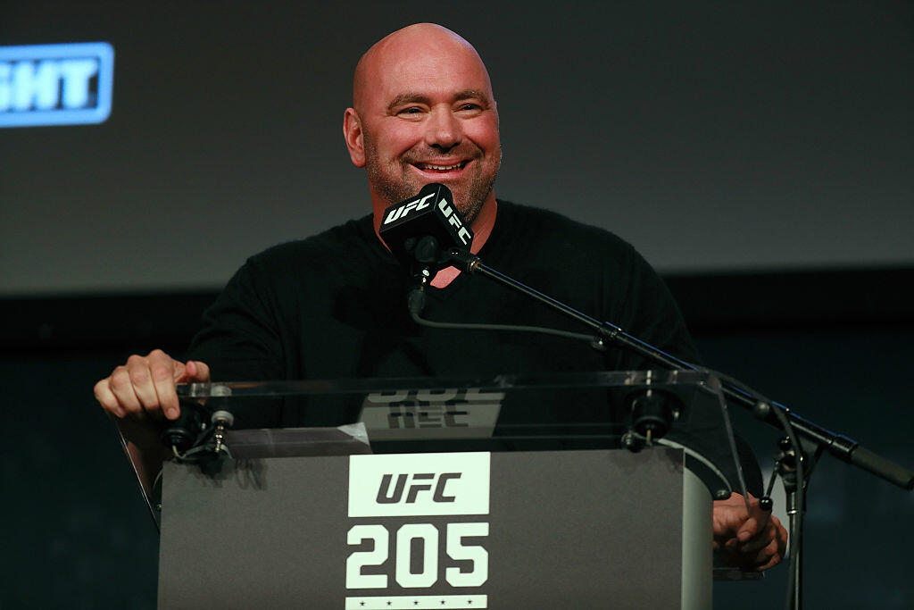 NEW YORK, NY - SEPTEMBER 27:  UFC president Dana White addresses the media during the UFC 205 press conference at The Theater at Madison Square Garden on September 27, 2016 in New York City.  (Photo by Michael Reaves/Getty Images)