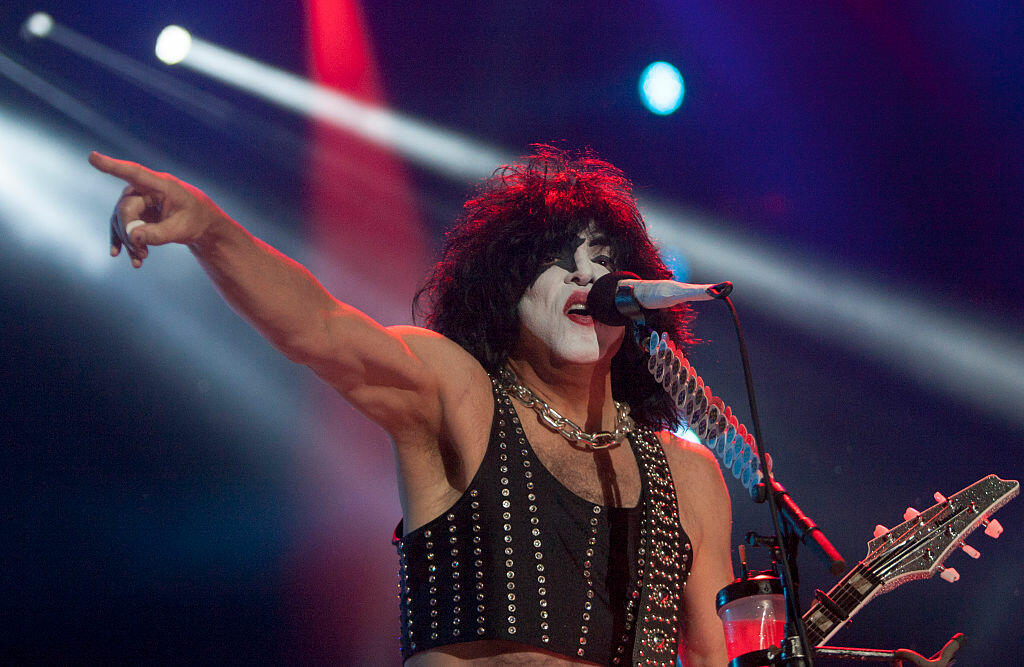 Paul Stanley, vocalist for US rock band Kiss, performs during the Corona Northside 2016 festival in Monterrey, Mexico's Nuevo Leon, on November 12, 2016. / AFP / Julio Cesar Aguilar        (Photo credit should read JULIO CESAR AGUILAR/AFP/Getty Images)