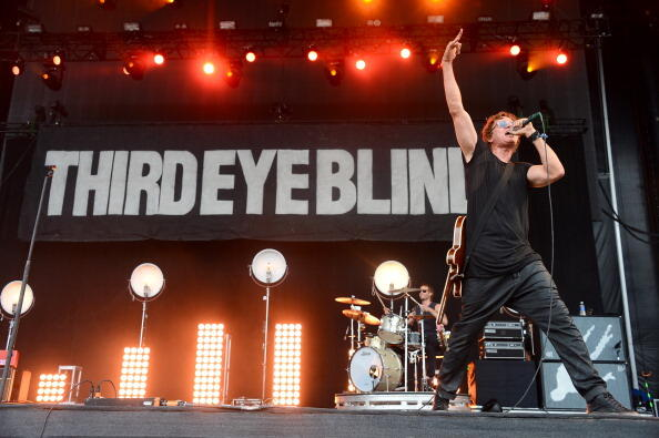 DOVER, DE - JUNE 21:  Stephan Jenkins of Third Eye Blind performs onstage during day 3 of the Firefly Music Festival on June 21, 2014 in Dover, Delaware.  (Photo by Theo Wargo/Getty Images for Firefly Music Festival)