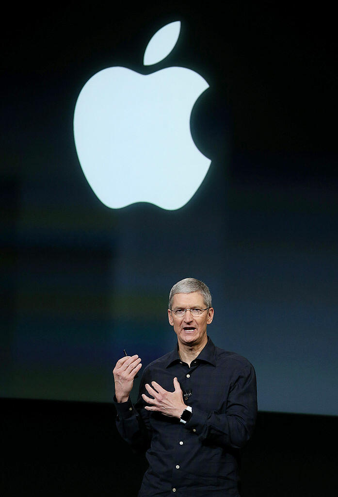 CUPERTINO, CA - OCTOBER 16:  Apple CEO Tim Cook speaks during an Apple special event on October 16, 2014 in Cupertino, California.  Apple unveiled the new iPad Air 2, iPad mini 3 tablets and the iMac with 5K Retina display.  (Photo by Justin Sullivan/Getty Images)