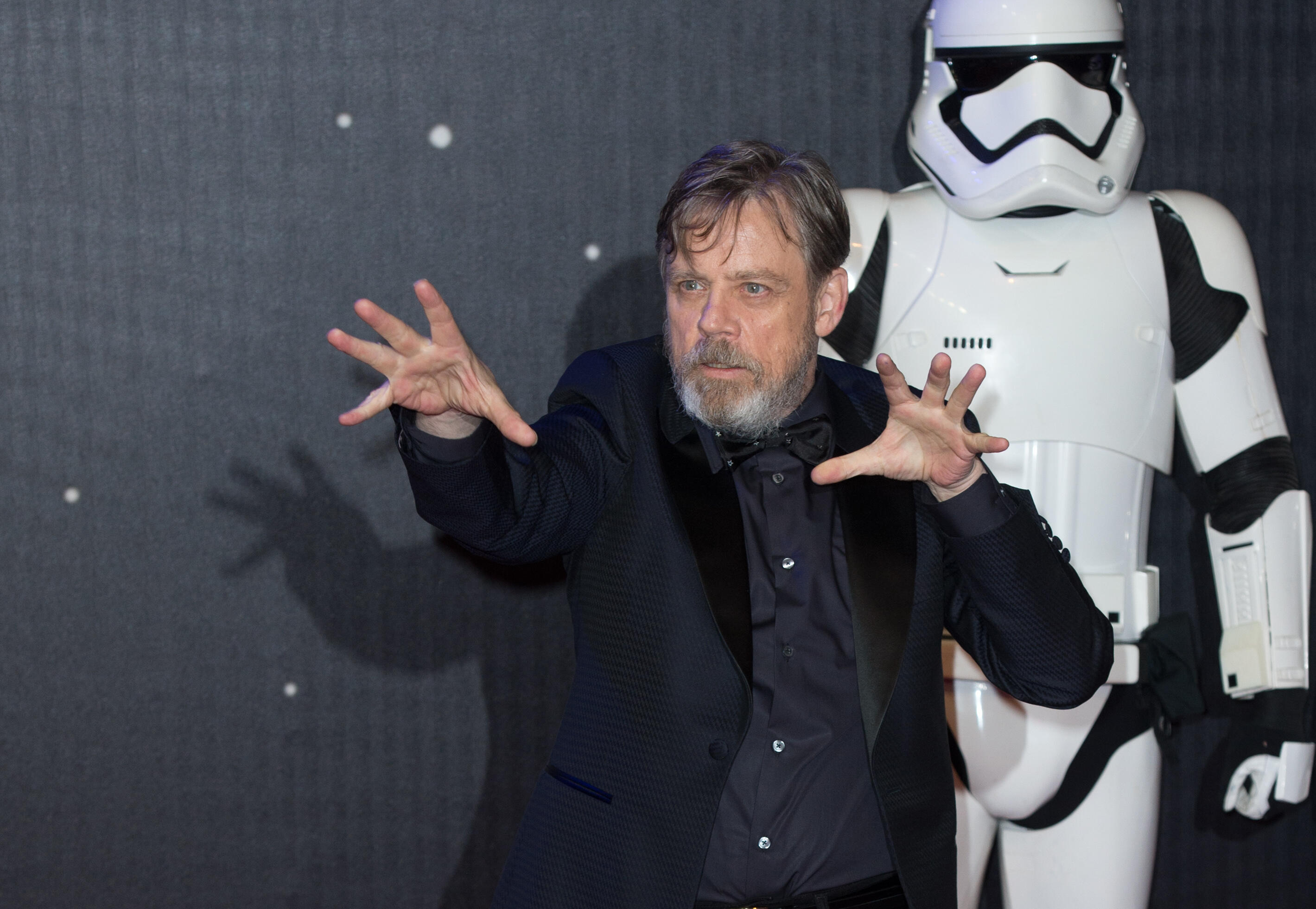 Mark Hamill arriving at the European premiere of
