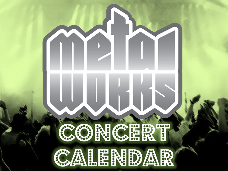 Metal Works concert calendar green