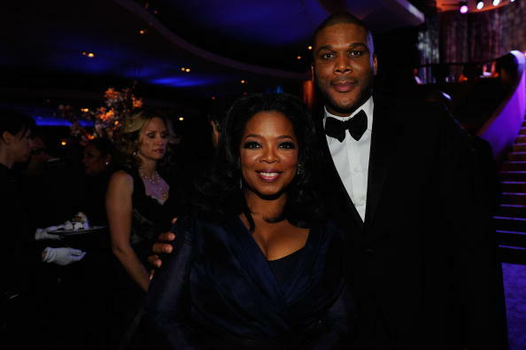 HOLLYWOOD - MARCH 07:  TV personality Oprah Winfrey and executive producer Tyler Perry attends the 82nd Annual Academy Awards Governor's Ball held at Kodak Theatre on March 7, 2010 in Hollywood, California.  (Photo by Kevork Djansezian/Getty Images)