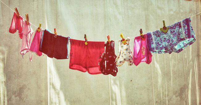 Underwear Hanging On a Line