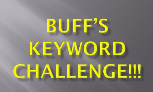 BUFFS KEYWORD CHALLENGE