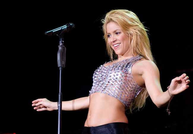 Shakira Performs in Concert in Barcelona