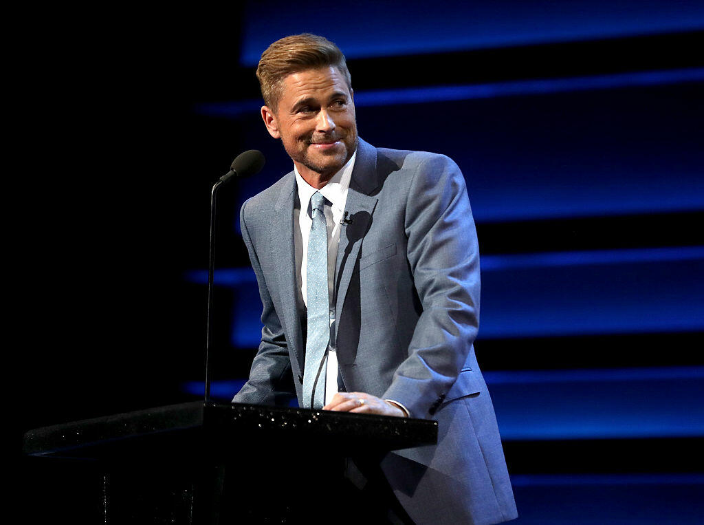 LOS ANGELES, CA - AUGUST 27:  Honoree Rob Lowe speaks onstage at The Comedy Central Roast of Rob Lowe at Sony Studios on August 27, 2016 in Los Angeles, California. The Comedy Central Roast of Rob Lowe will premiere on September 5, 2016 at 10:00 p.m. ET/PT.  (Photo by Christopher Polk/Getty Images)