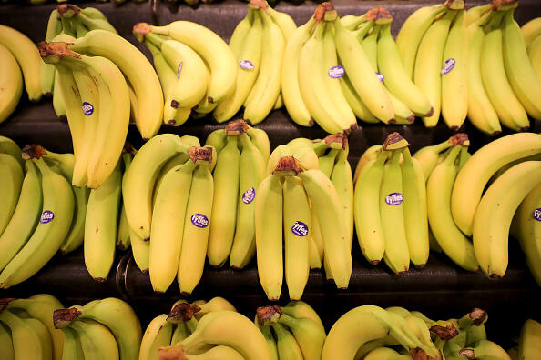 ROCHDALE, ENGLAND - JANUARY 23:  Fyffes bananas are seen for sale inside Rochdale's Morrisons supermarket on January 23, 2017 in Rochdale, England. Wm Morrison Supermarkets Plc has over 500 stores in the UK and operates an online home delivery service. Morrisons recently had its best Christmas for seven years after the supermarket chain revamped its premium ranges.  (Photo by Christopher Furlong/Getty Images)