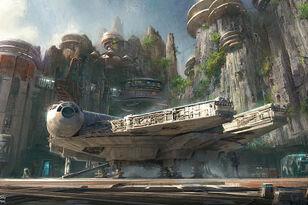 Footage of Millennium Falcon Ride At Disneyland