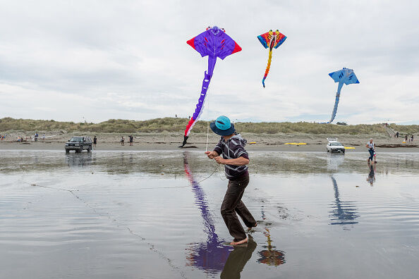 Enthusiasts Gather At Kite Day In New Brighton