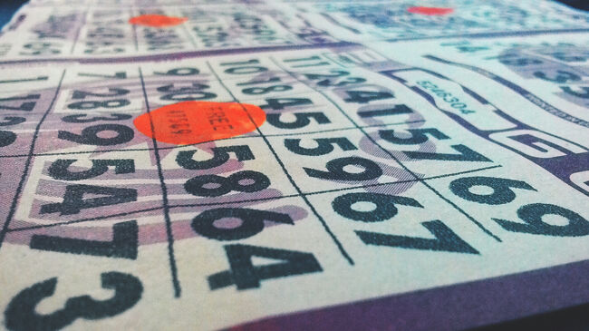 Close-Up Of Numbers In Bingo Card