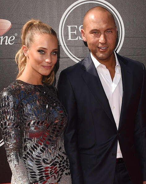 LOS ANGELES, CA - JULY 15:  Derek Jeter and Hannah Davis attend The 2015 ESPYS at Microsoft Theater on July 15, 2015 in Los Angeles, California.  (Photo by Jason Merritt/Getty Images)